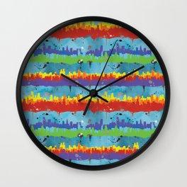 Pride City Stripe Wall Clock