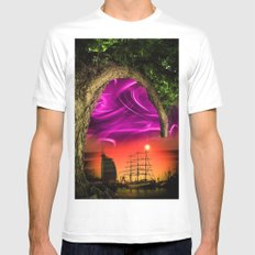 Bremerhaven - Sunset Mens Fitted Tee White MEDIUM