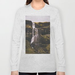 Waterfall Somewhere in Southern Iceland. Long Sleeve T-shirt