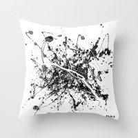 paris map Throw Pillows featuring Paris map by Nicksman