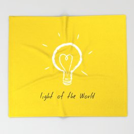 Light of the World - yellow Throw Blanket