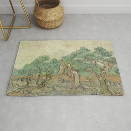 The Olive Orchard by Vincent van Gogh - Classic Art Rug