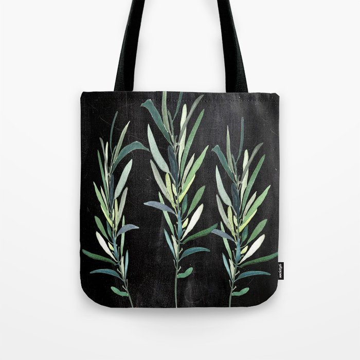Eucalyptus Branches On Chalkboard Tote Bag