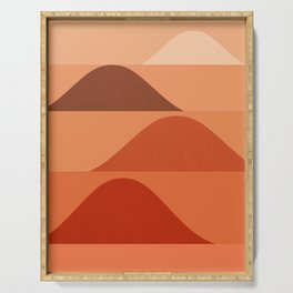 Abstraction_Mountains_Minimalism_Layers_001 Serving Tray