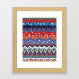 Japanese Tribal Design Framed Art Print