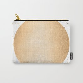 Sun Paint Spatter in Orange Sherbet Shimmer Carry-All Pouch