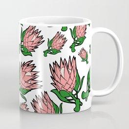 Lovely Pink Australian Native Floral Pattern - King Protea Coffee Mug