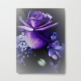 Sweet Beginnings In Purple Rose Metal Print