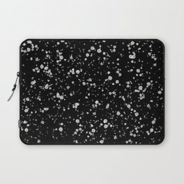 Minimal Splatter Pattern - Black Background Laptop Sleeve