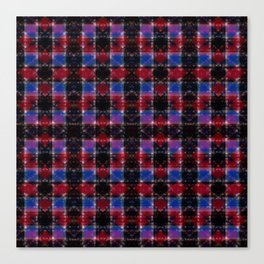 Cart Handle Semi-Plaid In Red, Pink, Blue, and Black Canvas Print