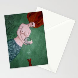 undine with crystal ball Stationery Cards