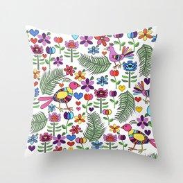 Otomi Floral Throw Pillow