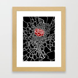 The Shattered Rose Framed Art Print