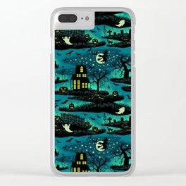 Halloween Night - Fox Fire Green Clear iPhone Case