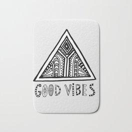 Good Vibes grey  mindset Bath Mat