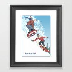 Stark Spangled Sledding (Recipe for a Concussion) Framed Art Print