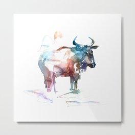Wildebeest 2 / Abstract animal portrait. Metal Print