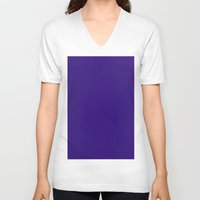 persian V-neck T-shirts featuring Persian indigo by List of colors