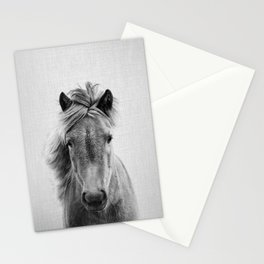 Wild Horse - Black & White Stationery Cards