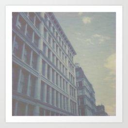 New York City in Blue I Art Print