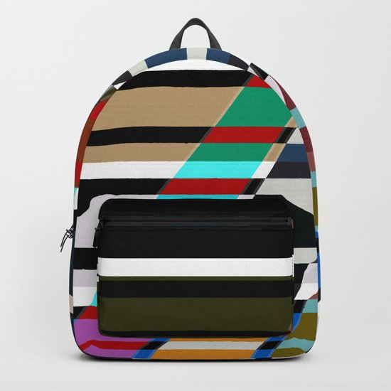 Abstract stripes . Oblique stripes 1 . Backpack