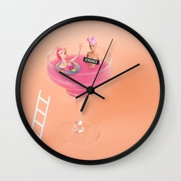 Margarita tub Wall Clock