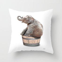 bathroom art, elephant wall art, bathroom wall art, bathroom kids art, bathroom decor, bathroom wall Throw Pillow
