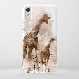 Giraffe and Baby iPhone Case