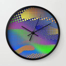 Halftone Sea Color Wall Clock