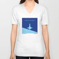 inception V-neck T-shirts featuring No240 My Inception minimal movie poster by Chungkong