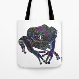 Psychedelic Giant Monkey Frog Tote Bag