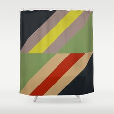 Modernist Geometric Graphic Art Shower Curtain