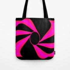 Abstract. Pink+Black Dot. Tote Bag