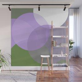 Genderqueer Pride Simple Transparent Layered Circles Wall Mural