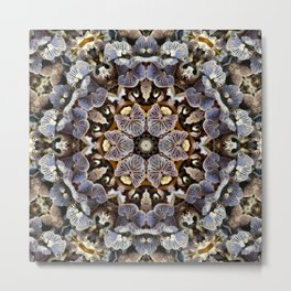 Mushroom Mandala 2 Metal Print