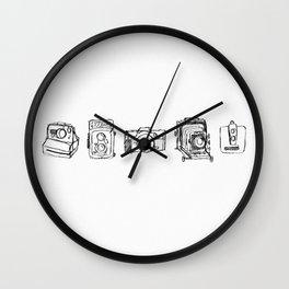Vintage Camera Line Drawing Wall Clock