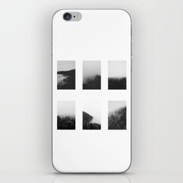The Forests in Fog and Black and White iPhone Skin