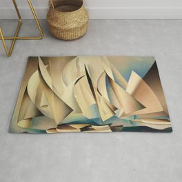 Pertaining to Sailing Yachts and Yachting by Charles Sheeler Rug