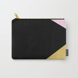 Color Block Glam Triangles Carry-All Pouch