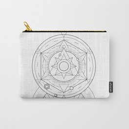 Geometric Universe Mandala Carry-All Pouch