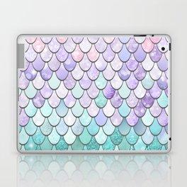 Mermaid Pastel Pink Purple Aqua Teal Laptop & iPad Skin