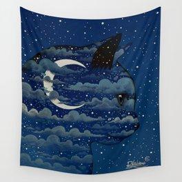 LUNA CAT by Raphaël Vavasseur Wall Tapestry