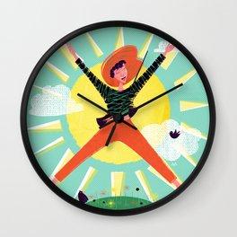 Exuberant! Wall Clock