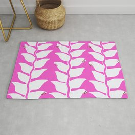 Hot Pink Heliconia Rug