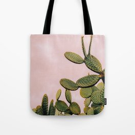 Cactus on Pink Sky Tote Bag