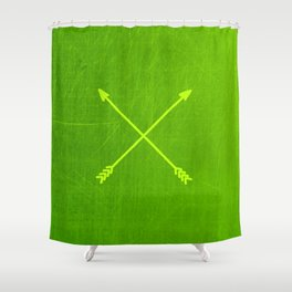 lemon lime crossed arrows Shower Curtain