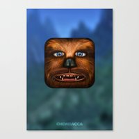 chewbacca Canvas Prints featuring Chewbacca by Michael Flarup