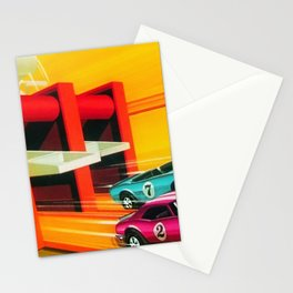 Vintage Hot Wheels Redline Dual-Lane Rod Runner Racing Poster Trade Print Stationery Cards