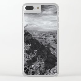 Grand Canyon No. 7 bw Clear iPhone Case