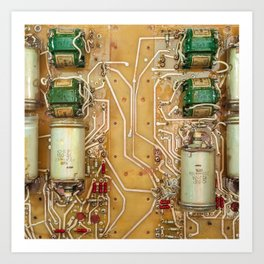 Electronic circuit board Art Print